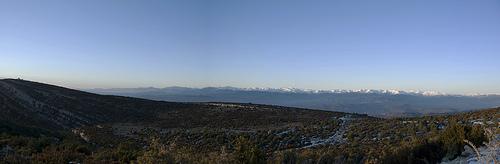 Panorama der Pyrenäen