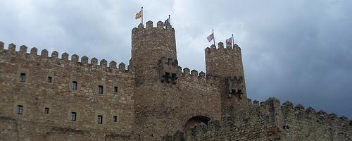 Mittelalterliche Burg in der Stadt Sigüenza