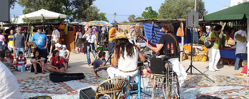 Hippiemarkt auf Formentera