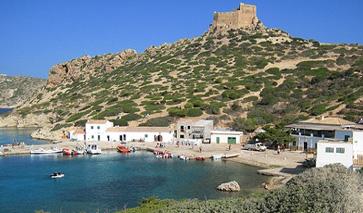 Bucht und Hafeneinfahrt Cabrera