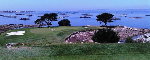 Golfplatz auf der Insel La Toja