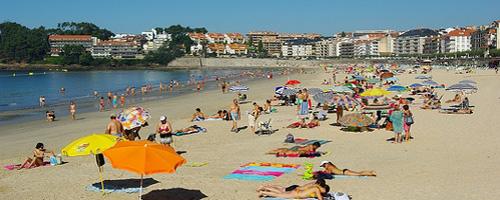 Playa de Silgar in Sanxenxo