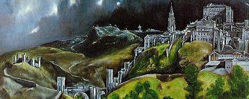 El Greco mit Blick auf Toledo