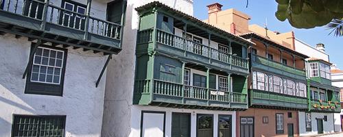 Typische Häuser in Santa Cruz de la Palma