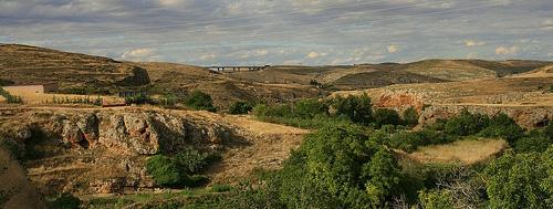 hügelige Landschaft in der Provinz Soria