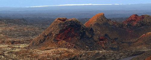 Blick auf die Feuerberge im Nationalpark Timanfaya
