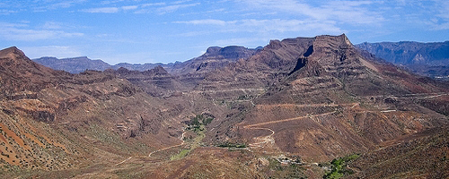 mountain range in central Gran Canaria