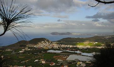 Blick von den Bergen auf Las Palmas de Gran Canaria