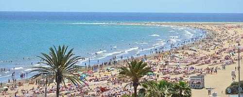 Urlaubsstimmung an der Playa del Inglés