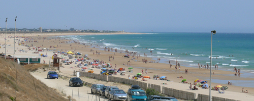 Strandleben an der Playa de la Fontanilla bei Conil